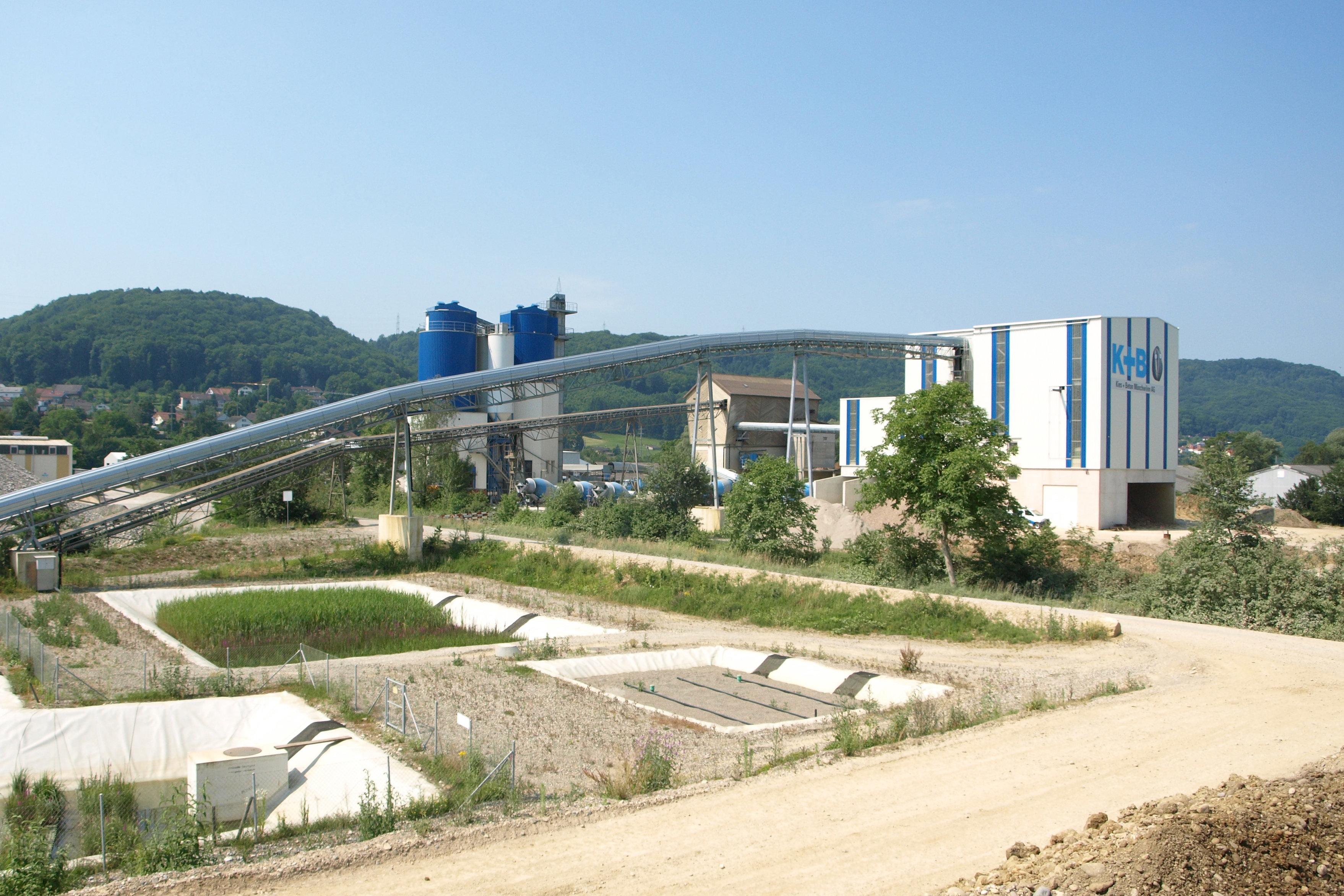 Betonproduktionsanlage der Kies und Beton