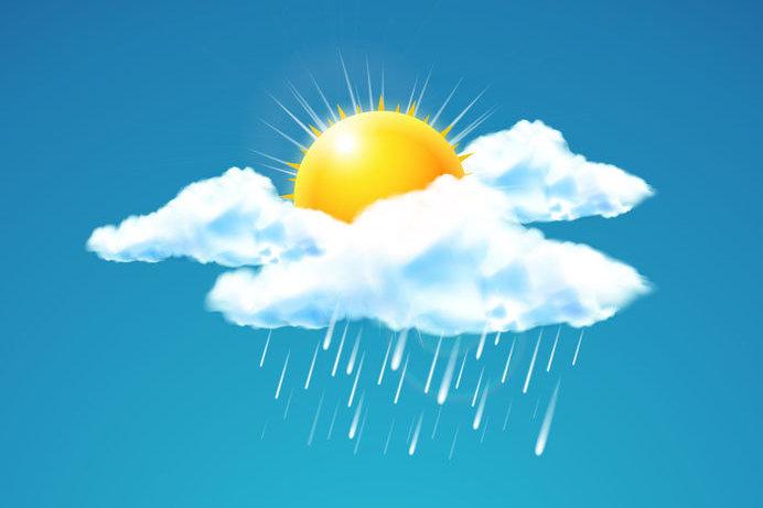 Sonne Regenwolke