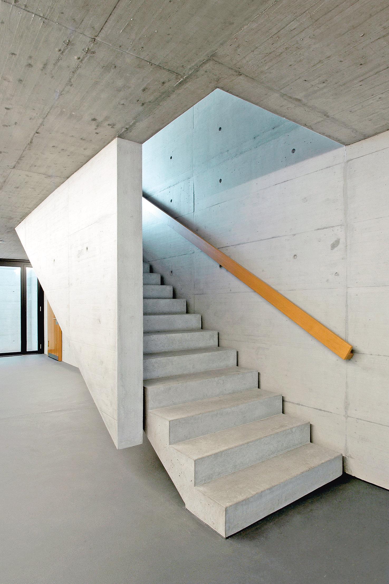 Beton, Sichtbeton einer Treppe Treppe
